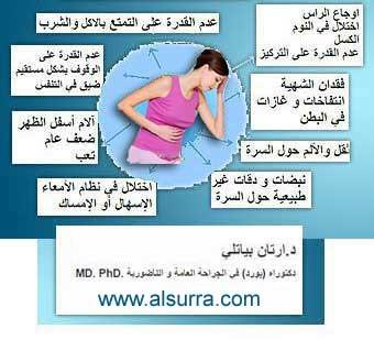 اعراض مرض هبوط البطن Alnadoof