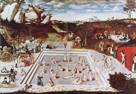 Gençlik Çeşmesi - Lucas Cranach. Yaşlanmayı geciktirmek insanoğlunun bir ebedi kurgusudur. Anti aging