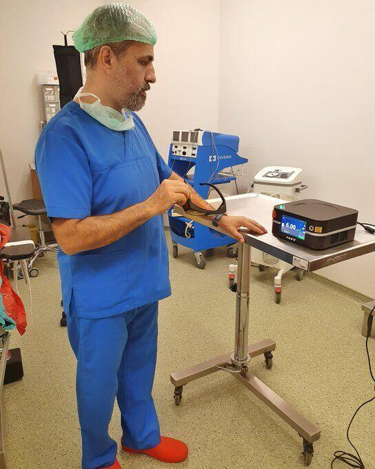 Lazerle Hemoroid tedavisi lazer cihazı